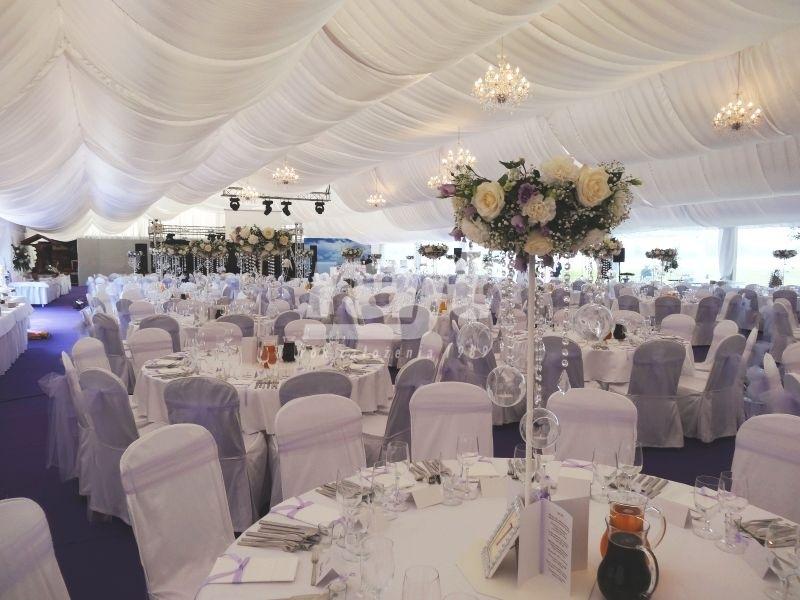 Duże wesle plenerowe w hali namiotowej TYP 20m