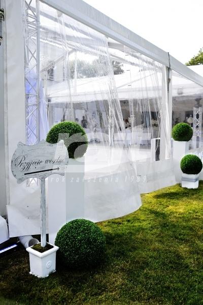 Wejście na przyjęcie weselne do głównej hali.